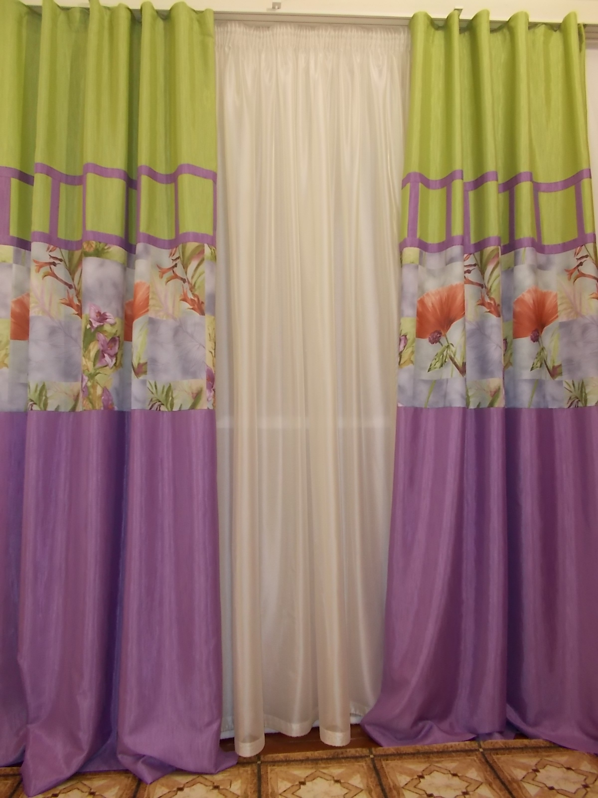 Как сшить комбинированные шторы своими руками 1131
